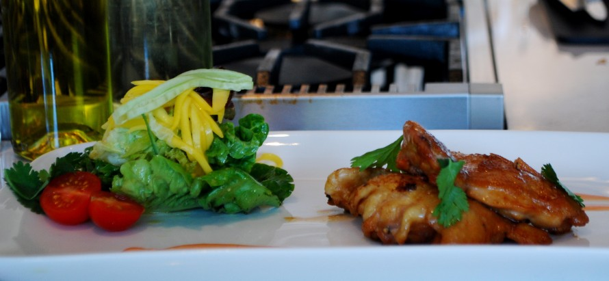 London Chef's Seared Chicken with Mango Cilantro Salad