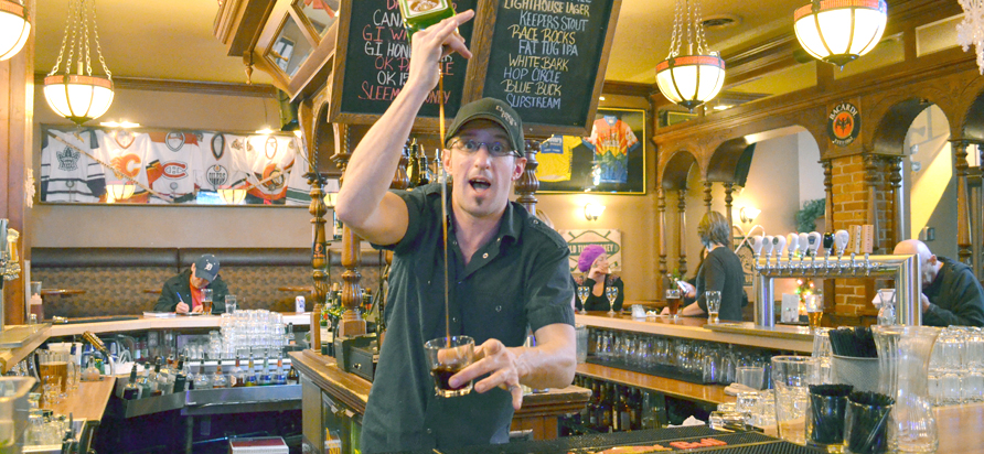 Michael Carruthers, bartender at Darcy's Pub. Photo by Ellie Shortt