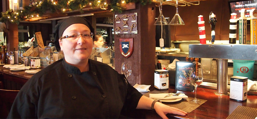 Chef Lisa Hartery of Nautical Nellies in Victoria. Photo by Deanna Ladret