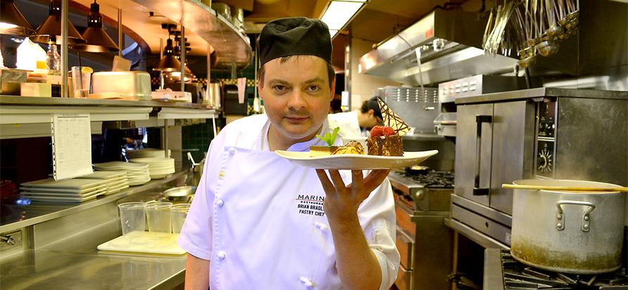 Chef Brian Bradley from The Oak Bay Marina. Photos by Ellie Shortt