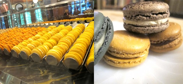 left: Thierry macarons. right: Bel Cafe macarons. Photos by Anya Levykh