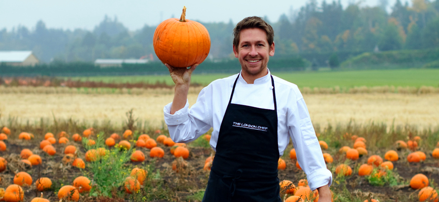 Chef Dan Hayes w/ Pumpkin. Photo Elizabeth Nyland