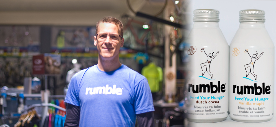 Left: Paul Underhill one of Rumble's Founders. Right: Rumble