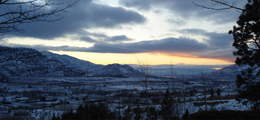 We're treated to a spectacular sunrise over the south Okanagan