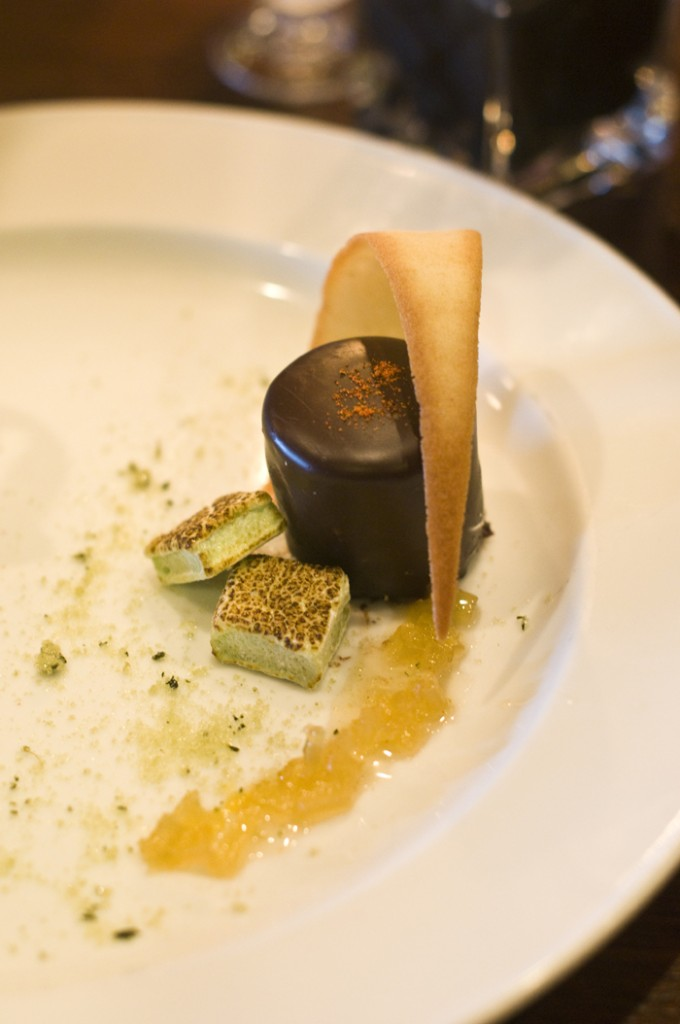 Chili Chocolate Pear Mousse (credit. G. P.)