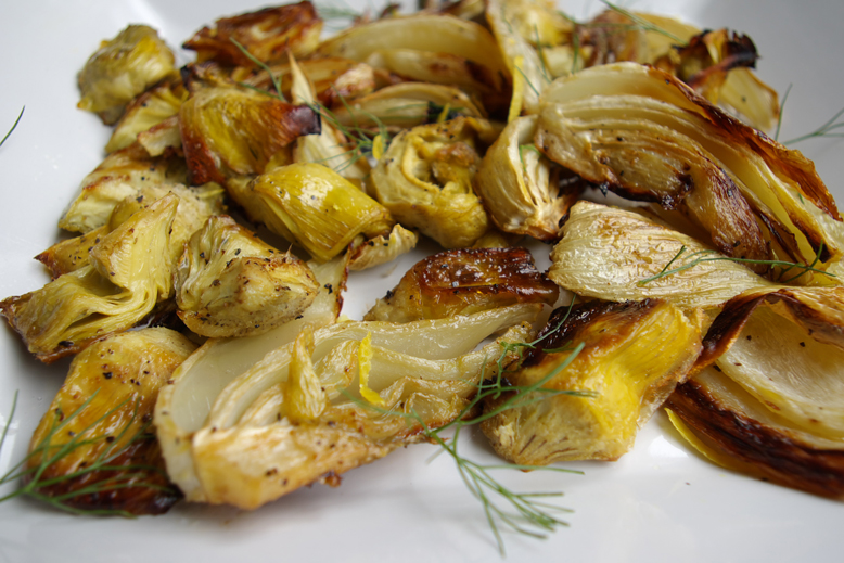Grilled-Fennel-with-Artichokes