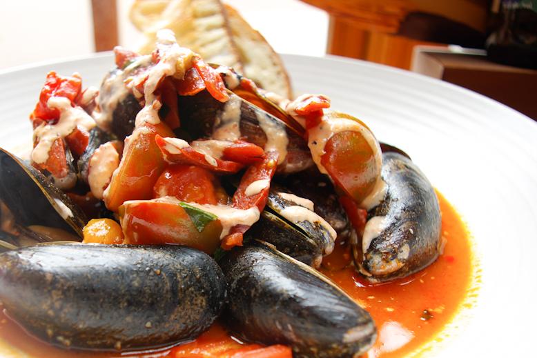 Canoe Chorizo Mussels