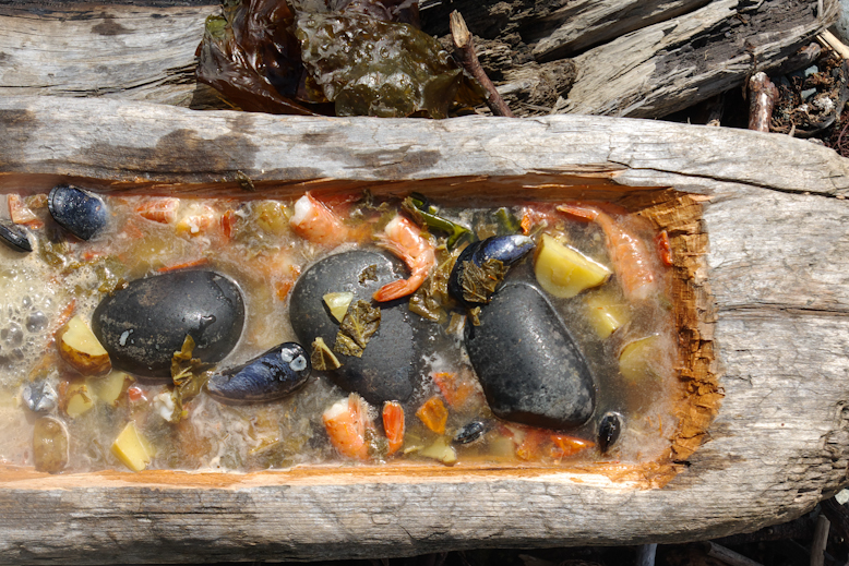 Hot Rock Seafood Bouillabaisse