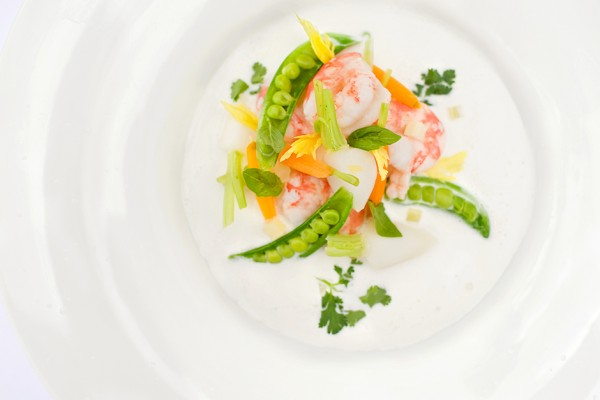 Peas and Spot Prawns.2