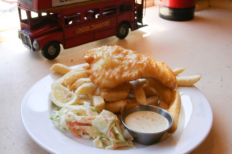 fish and chips - old vic