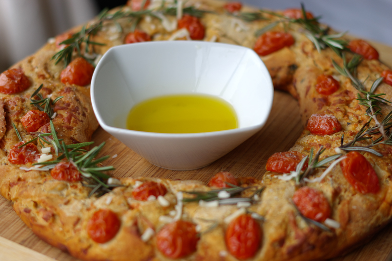 Asiago wreath bread