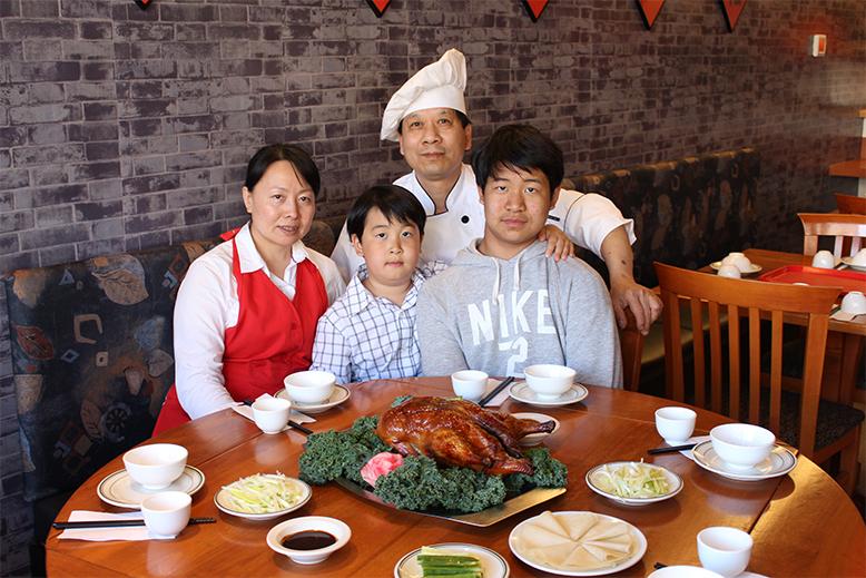 Xin Liu, Felipe Jiang, Yuan Jiang, Chris Jiang at Beijing Bistro