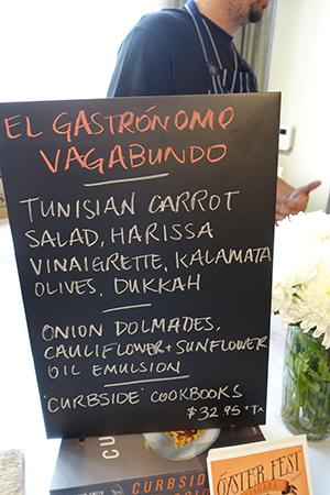 Terroir Lunch menu