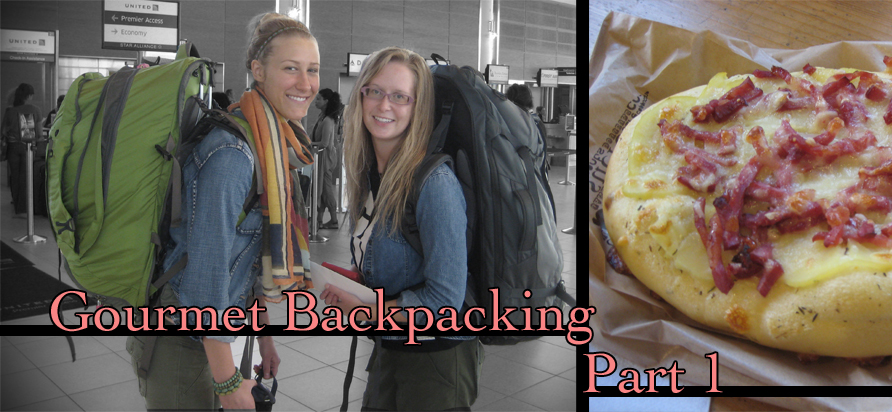 Left: Myself (Courtney) and my friend right before we left. Right: Delicious pizzette.