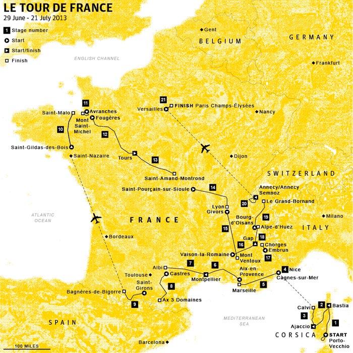 RoutemapTourdeFrance2013
