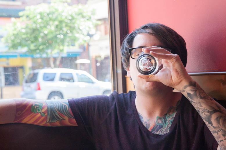Jon drinks beer
