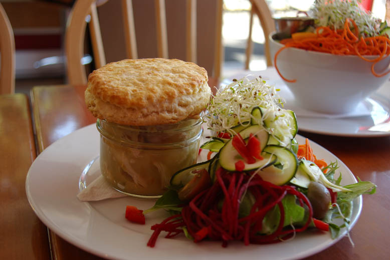 Mason Jar Chicken Pot Pie with Salad