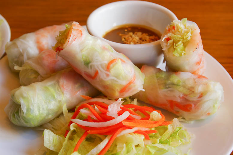 Saigon Night Shrimp Salad Rolls