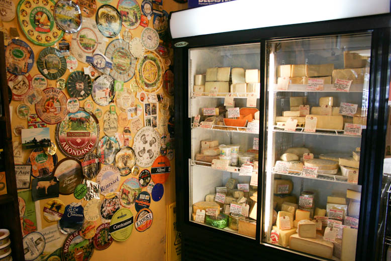 cheese - fridge and stickers at choux choux