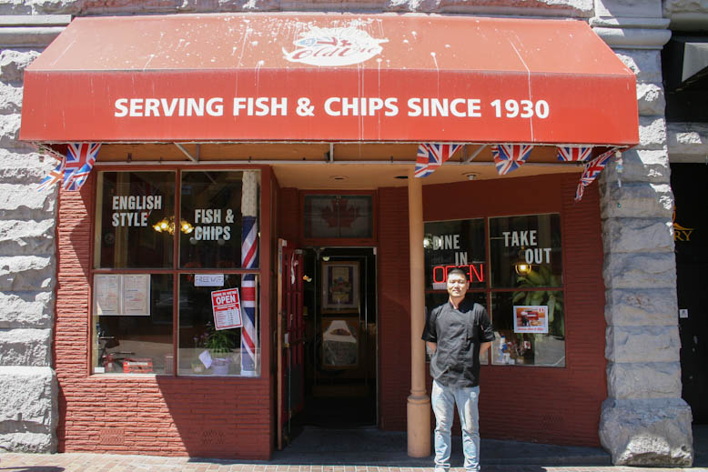 fish and chips - old vic yang
