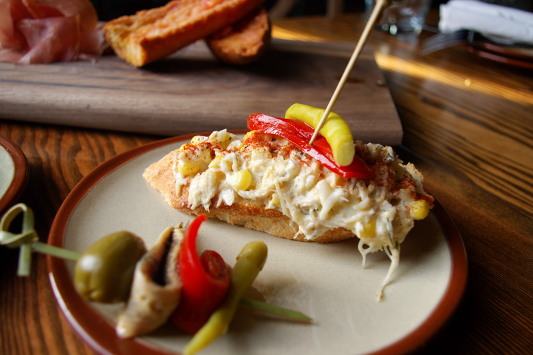 Pintxo-Dungeness Crab with Corn
