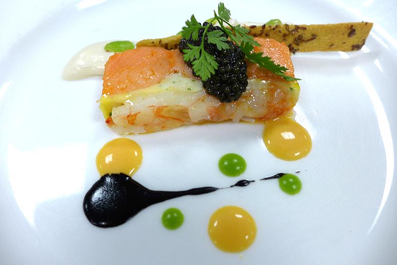 Fairmont Empress: BC spot prawns, caviar & ink aioli