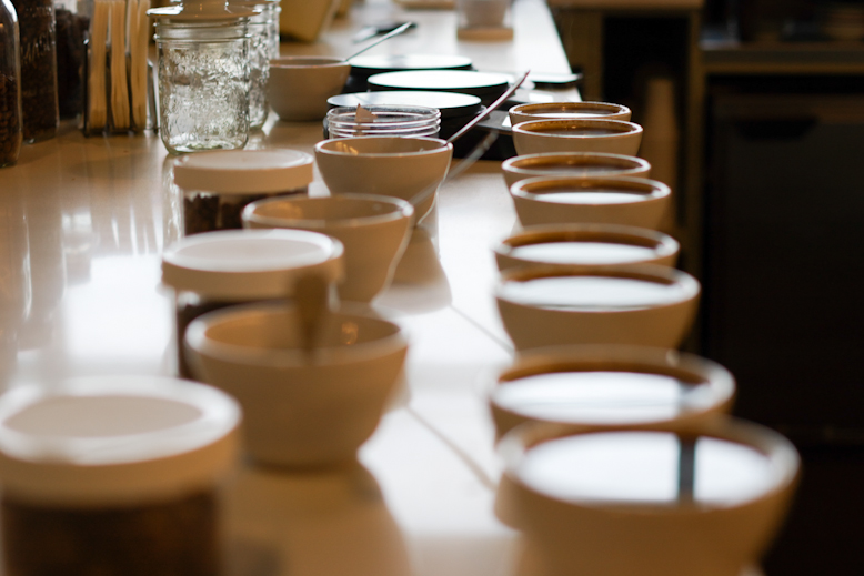 coffee cupping (crop this too!)