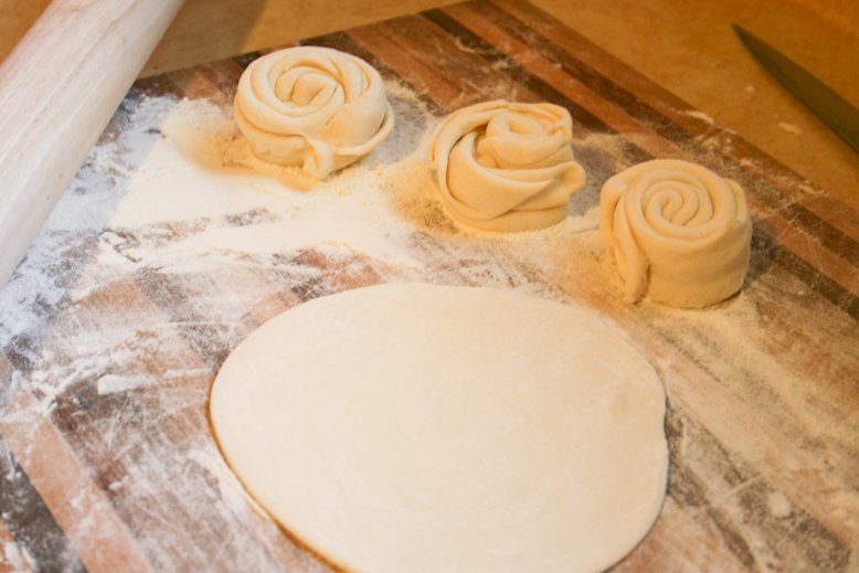 chapati -rolling out shapes