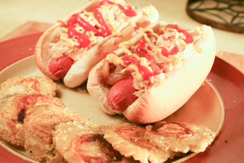 colombian hotdogs final product
