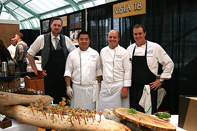 The Vista 18 crew at Culinaire