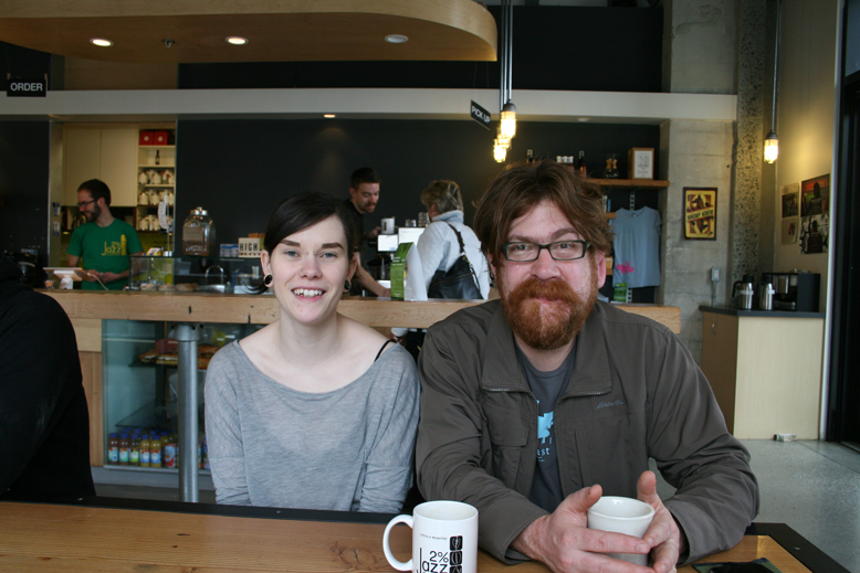 Sam Jones and his apprentice Marianne