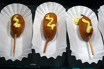 Fairmont Empress Hotel corndogs. Photo by Holly Brooke.